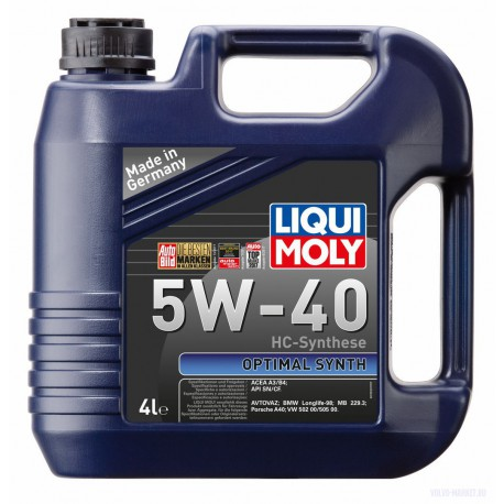 Масло моторное Liqui Moly  SB-1 Optimal Synth 5W40 (4л)