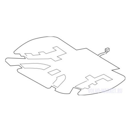 Элемент обогрева подушки переднего сидения VOLVO XC60